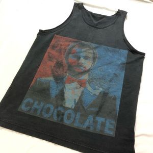 """Tops - GRAPHIC """"CHOCOLATE"""" TANK TOP"""